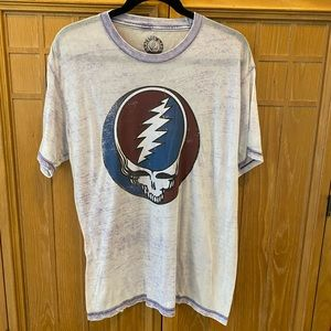 Grateful Dead Steal your Face Faded Purple Shirt S